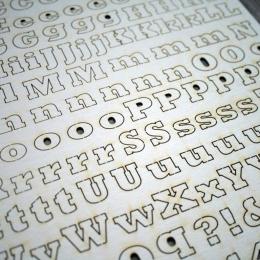 Smart Maxi | chipboard betűk