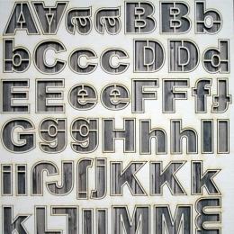 Graffiti   chipboard betűk
