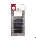 Ezüst - fekete árnyalatú csillámpor csomag