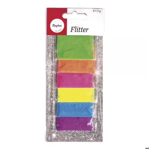Neon árnyalatú csillámpor csomag