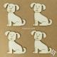 Kutya chipboard karton díszítőelem