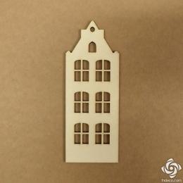 Holland ház 05 chipboard karton díszítőelem