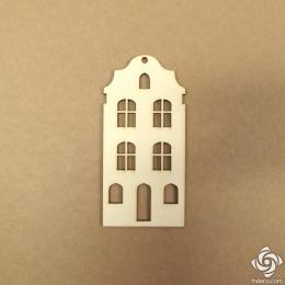 Holland ház 04 chipboard karton díszítőelem