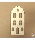 Holland ház 03   chipboard karton díszítőelem