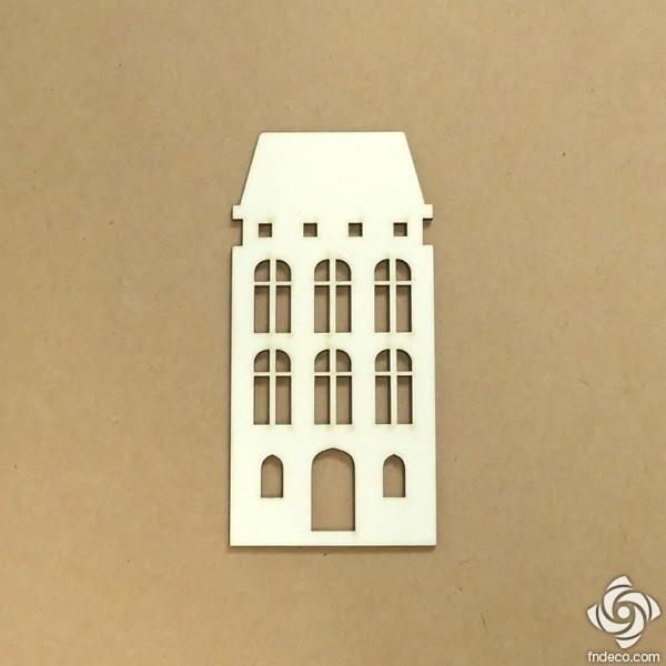Holland ház 02 chipboard karton díszítőelem