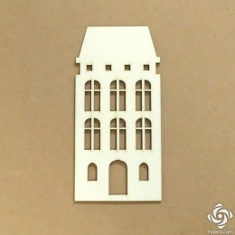 Holland ház 01 chipboard karton díszítőelem