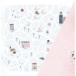 "Winter City | 12×12"" scrapbookpapír"