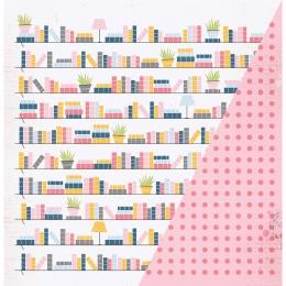 "Bookshelf | 12×12"" scrapbookpapír"