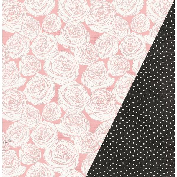 """Vintage Rose   12×12"""" scrapbookpapír"""