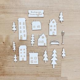 Otthon Karácsonykor | chipboard karton díszítőelem