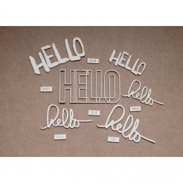 Hello   chipboard címfelirat csomag