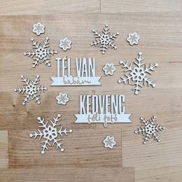 Tél van, babám | chipboard címfelirat csomag