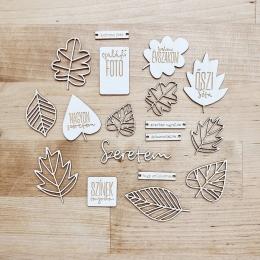 Őszi séta | chipboard címfelirat csomag