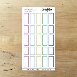 Planner Labels mini | matrica