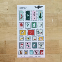 Karácsonyi posta mini | matrica
