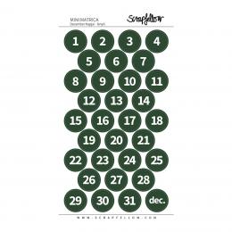 Fenyő december napjai számok | matrica