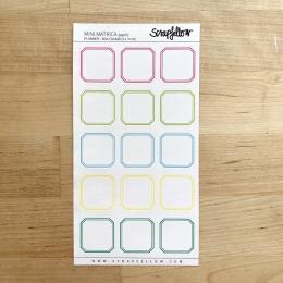 Színes füzetcímkék | planner matrica
