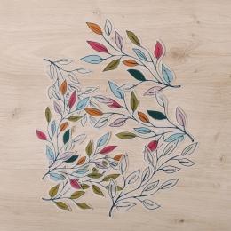 Ágas-bogas színes levelek | papír díszítőelem készlet