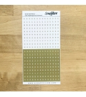 Zöld számok pozitív-negatív írógépfont | betűmatrica