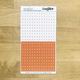 Narancs számok pozitív-negatív írógépfont | betűmatrica