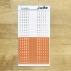 Narancs magánhangzók pozitív-negatív írógépfont | betűmatrica