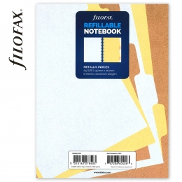 Metallic A5 elválasztólap | Filofax Notebook Metallic