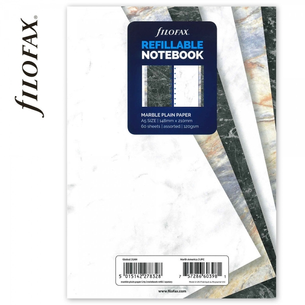 A5 üres márvány jegyzetlap   Filofax Notebook