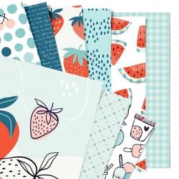 Gyümölcsszezon | 20x20 cm scrapbookpapír készlet
