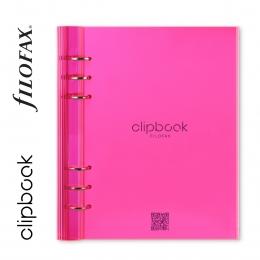 Fluoro Pink A5 Filofax Clipbook