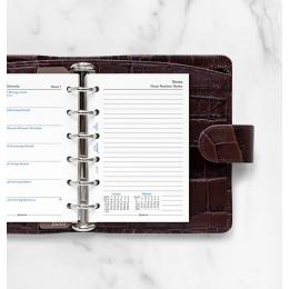 2022 Pocket Filofax heti naptárbetét 1 hét/1 oldal + 1 oldal jegyzet fehér