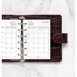 2022 Pocket Filofax havi naptárbetét fehér