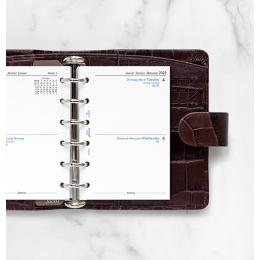 2022 Pocket Filofax napi naptárbetét 2 nap/1 oldal fehér
