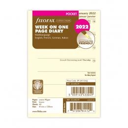 2022 Pocket Filofax heti naptárbetét 1 hét/1 oldal krém