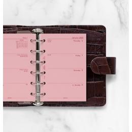 2022 Pocket Filofax heti naptárbetét 1 hét / 2 oldal Pink