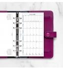 2022 Personal Filofax havi naptárbetét fekvő fehér