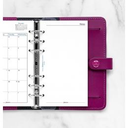 2022 Personal Filofax havi naptárbetét fehér