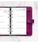 2022 Personal Filofax Naptárbetét Heti 1 hét / 2 oldal 5 nyelvű fehér lapos