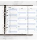 2022 A5 Filofax éves naptárbetét lap álló fehér