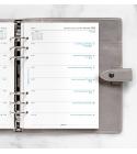 2022 A5 Filofax heti naptárbetét 1 hét / 1 oldal fehér