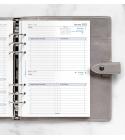 2022 A5 Filofax Business napi naptárbetét 1 nap/1 oldal fehér lapos