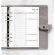 2022 A5 Filofax Time Management napi naptárbetét 1 nap / 2 oldal fehér lapos