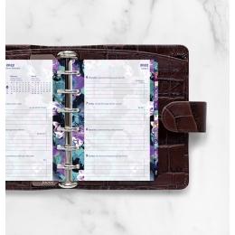 2022 Pocket Floral színes Filofax naptárbetét + pótlapcsomag Illustrated