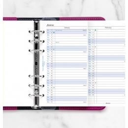 2022 Personal Filofax éves naptárbetét álló fehér