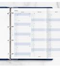 2022 A4 Filofax éves naptárbetét lap álló fehér