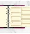 2022 Personal Filofax éves naptárbetét álló krém