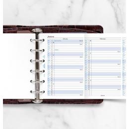 2022 Pocket Filofax éves naptárbetét lap álló fehér