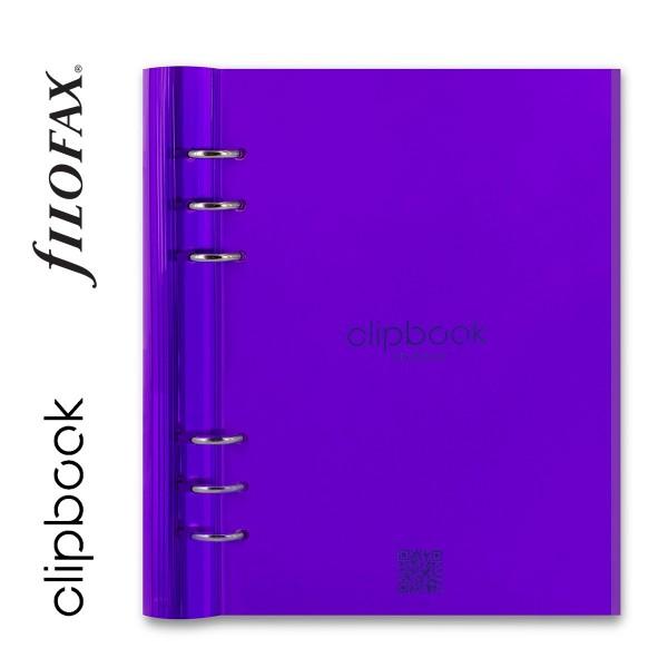 Lila A5 Filofax Clipbook