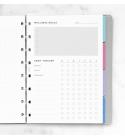 A5 fitnesz tervező Notebook betétlap | Filofax