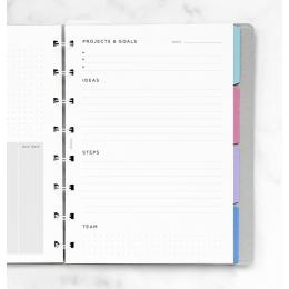 A5 célkitűzés tervező Notebook betétlap | Filofax