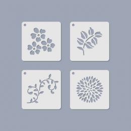 Virágmintás mini stencil 11